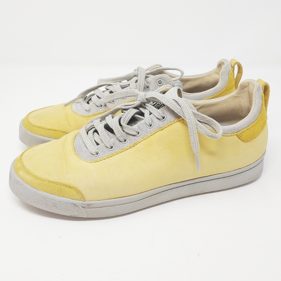 RANSOM X adidas Yellow Leather Strata Sneakers